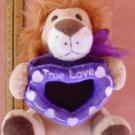 Wal-mart Lion True Love Heart Frame Stuffed Plush 6.5""