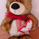 Wal-mart Multi Brown Bear with Heart Stuffed Plush 12""