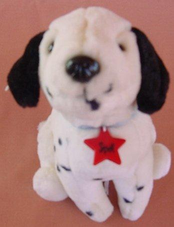 "Yangjee Spot Star Dalmatian Dog Spotted Stuffed Plush 6.5"""