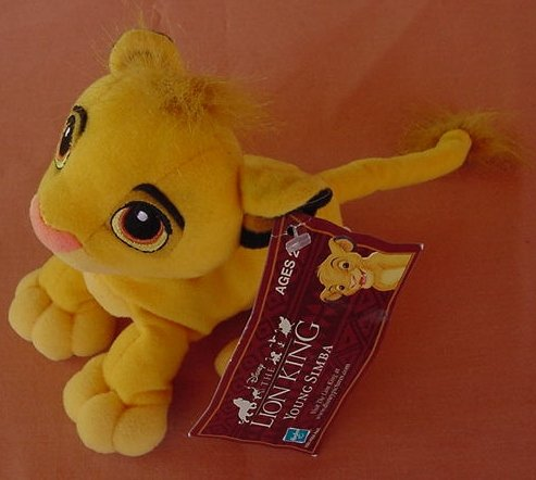 "Lion King Young Simba Beanie Stuffed Plush 5.5"" Tag"