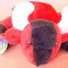 """OTC Red Bull Beanie Stuffed Plush Hopsy Tag 6"""" Cute"""