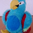 "Plush Appeal Blue Parrot Bird Stuffed Plush 9"" Stringy"