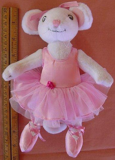 "Angelina Ballerina Mouse Bendy Poseable Stuffed Plush 8.5"""
