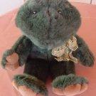 "Boyds Croaking Sound Green Frog Stuffed Plush 13"" 1997"
