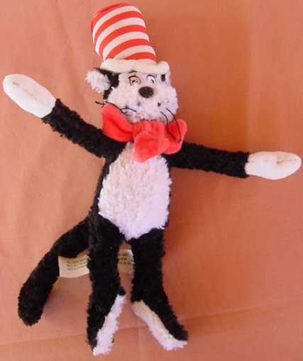 "Cat in The Hat Movie Stuffed Plush 12"" Chenille-ish Fur"