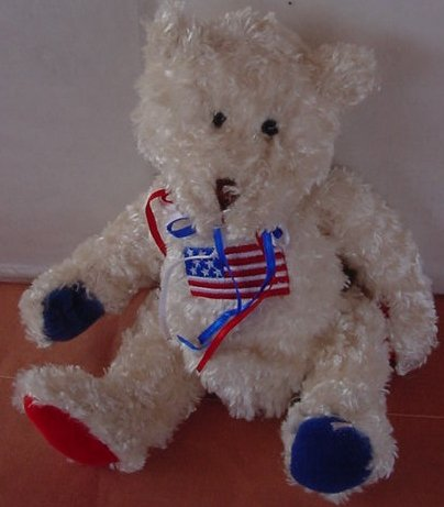 Collecticritters USA Patriotic Flag Bear Stuffed Plush 6.5""