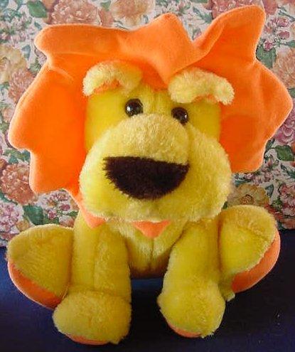 "Cloud 9 Yellow & Orange Lion Stuffed Plush 9"" Cute"