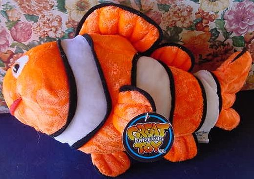 "Great American Clown Fish Stuffed Plush 12"" Orange Tag"