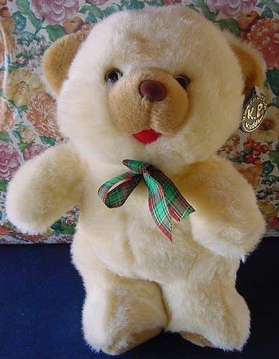 """King Plush Kuddles Beige Bear Stuffed Plush 11"""" Soft"""