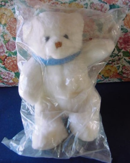 Little Brownie Originals White Bear Stuffed Plush 10""