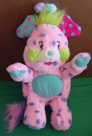 "Popples Polka Dottie Stuffed Plush 12"" 2001 TCFC Pink"