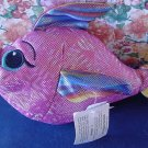 Wal-mart Shiney Pink Rainbow Fish Stuffed Plush 8""