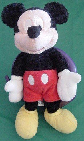 "Mickey Mouse Disneyland Crushed Velvet Stuffed Plush 7"""