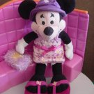 Minnie Mouse Disney Store Hip Hat Flower Dress Beanie Plush 9""