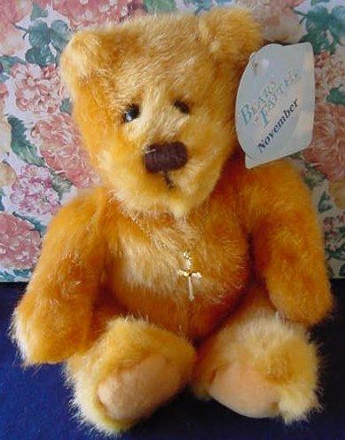 """Bears of Faith November Bear Applause Stuffed Plush 7"""" Tag"""