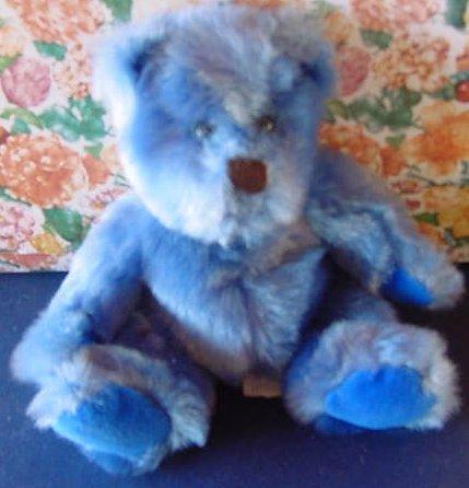 "Blue September Bear Frannie Applause Stuffed Plush 7"""