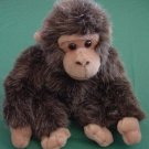 Fiesta Cute Fuzzy Gray Brown Monkey Stuffed Plush 6.5""