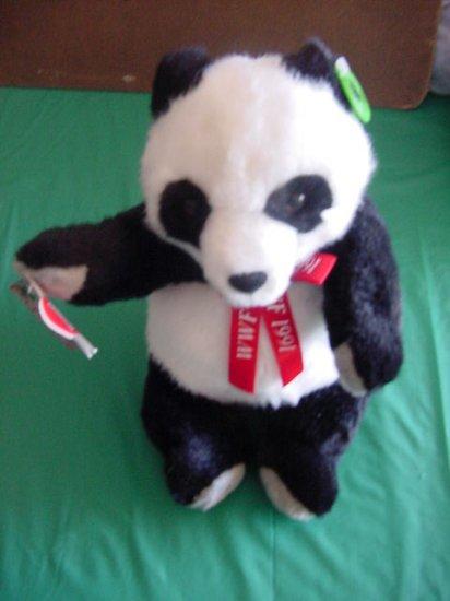 "Applause WWF Giant Panda 11"" Stuffed Plush 1991 Cute Tag"