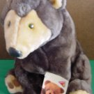 Dakin Applause Sherwood Slate Bear Stuffed Plush Tag