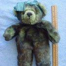 "Dakin Christie Bear Brown Green Tint Stuffed Plush 10"""