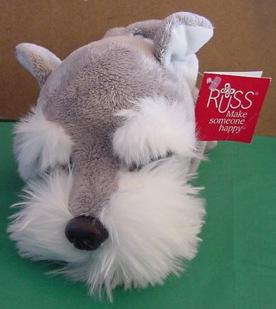 "Russ Berrie Arley Big Eyes Dog Stuffed Plush 10"" Tag"