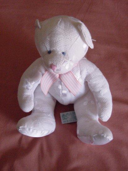 "Russ Berrie Baby White Bear Precious Stuffed Plush 8"""