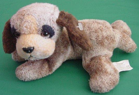 """Russ Berrie Emerson Brown Puppy Dog Beanie Plush 7"""""""