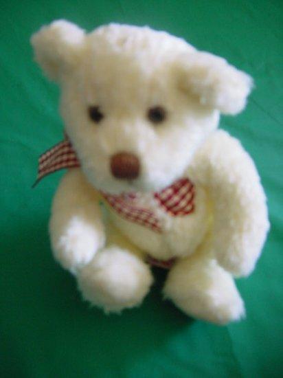 "Russ Berrie True Heart Bear Cream Stuffed Plush 6"""