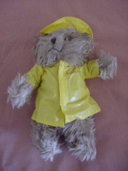 "Russ Brittany Jr Raincoat Brown Bear Stuffed Plush 5"""