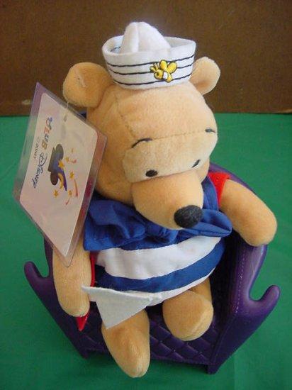 """Winnie Pooh Bear Sailor Bee Hat Club Disney Stuffed Plush 6"""""""