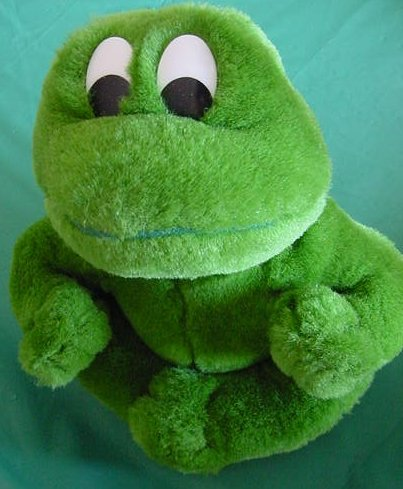 "Cute Green Frog Froggy Stuffed Plush 7"" Fiesta"