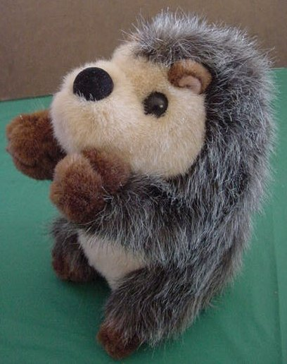 "Fiesta Cute Fuzzy Gray Hedgehog Stuffed Plush 7"""