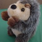 Fiesta Cute Fuzzy Gray Hedgehog Stuffed Plush 7""