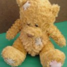 Fiesta Sitting Golden Brown Patch Bear Stuffed Plush 5""