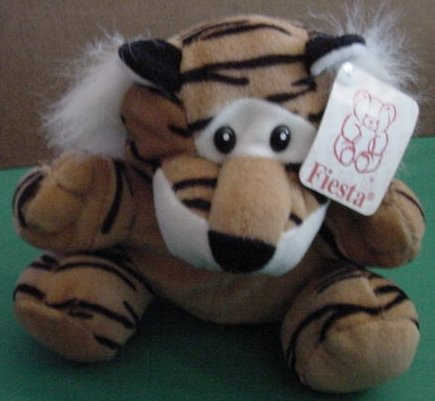 Fiesta Tiger Bengal Orange Black Beanie Stuffed Plush Tag