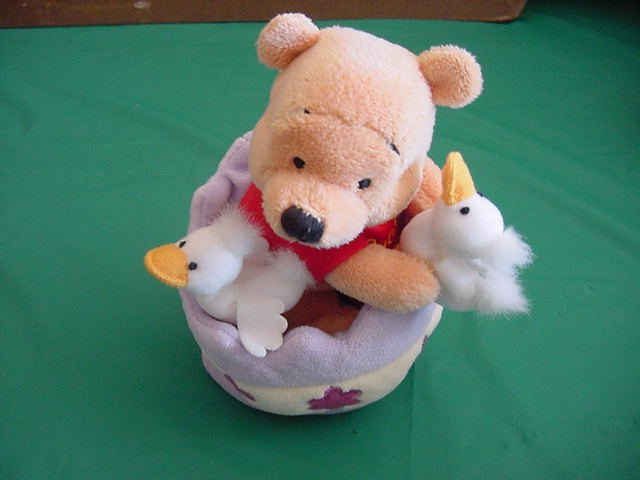 "Winnie Pooh Bear Easter Egg Ducks Stuffed Plush 6"""