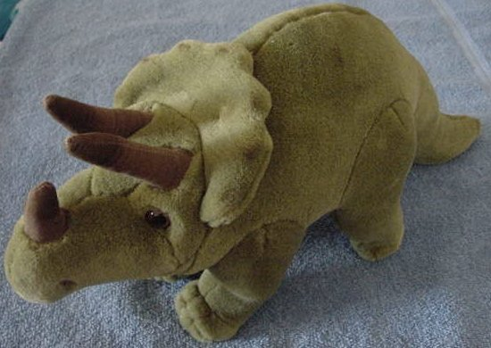 "Wildlife Artists Green Dinosaur Horns Stuffed Plush 14"""