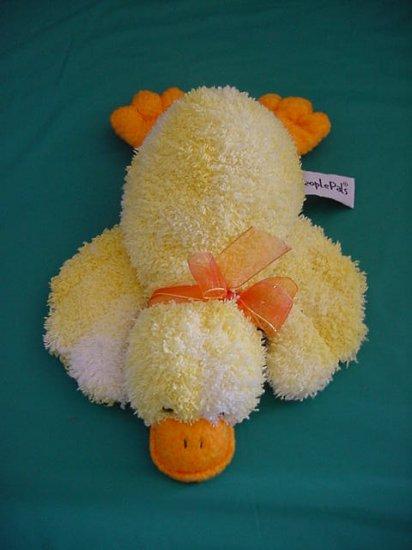 """Aurora People Pals Yellow Duck Stuffed Plush 9"""""""