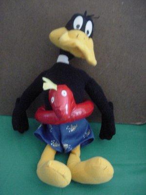 "Daffy Duck Life Preserver Horsey Stuffed Plush 12"""