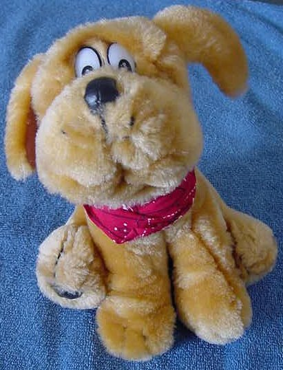Play by Play Brown Sitting Dog Old Style Stuffed Plush