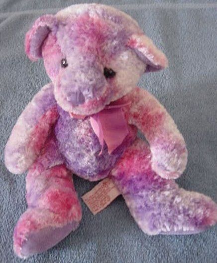 Russ Berrie Cassandra Bear Tie Dye Stuffed Plush