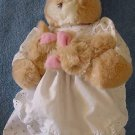 Russ Berrie Mama Bunny & 2 Babies Stuffed Plush Tag Rabbit
