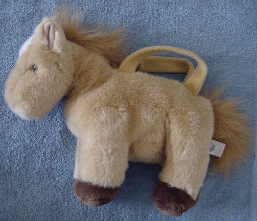 "People Pals Pony Horse Zipper Purse Stuffed Plush 10"""