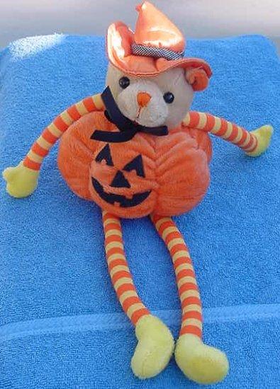 Fiesta Halloween Pumpkin Witch Bear Stuffed Plush