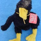 Gund Dunkln Duck Black Stuffed Plush Crooked Neck Tag