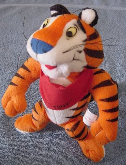 Kellogg's Frosted Flakes Tony Tiger 1997 Stuffed Plush