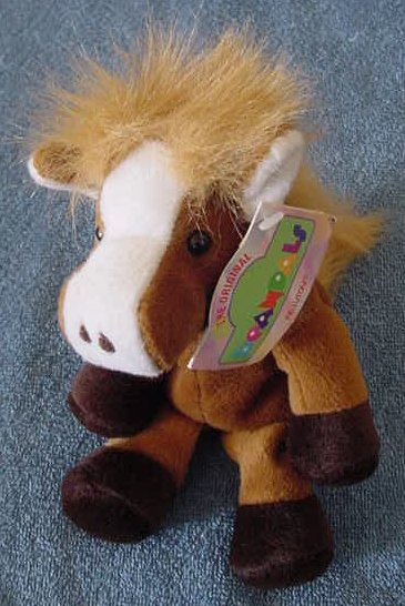 "Kellytoy Beanpals Brown Horse Philly Plush Beanie 6"""