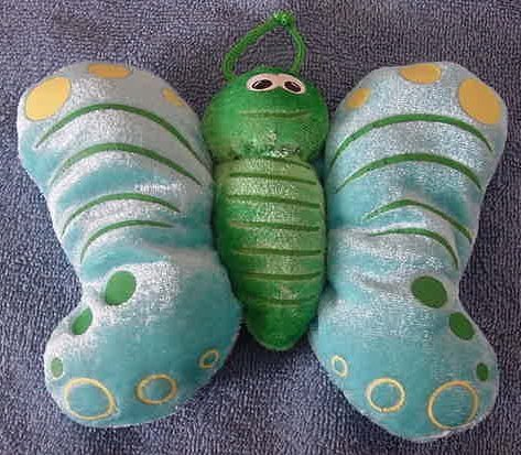"""Cute Floppy Colorful Butterfly or Moth Stuffed Plush 5"""""""
