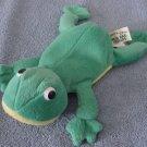"DanDee Green Frog Beanie Stuffed Plush 7"" Older"