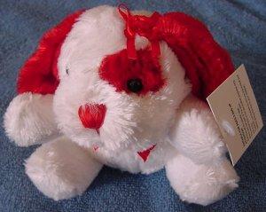 "DanDee White & Red Mini Dog Stuffed Plush 4"" Tag"